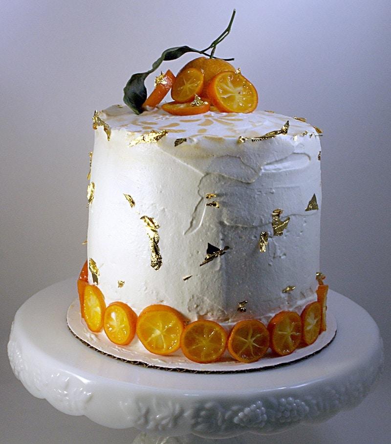 Satsuma Curd Dulce De Leche Cake